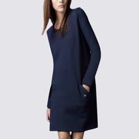 Fashion elegant o-neck long-sleeve loose medium-long plus size clothing autumn one-piece dress