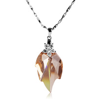 925 pure silver necklace crystal necklace pendant female necklace