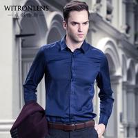 Male autumn long-sleeve shirt casual shirt business slim 100% cotton top