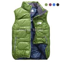 Men Brand Autumn and winter velvet  down vest down   winterisation thermal duck  down jacket coat for men sizeM-XXL