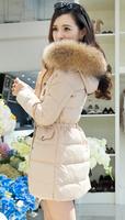 women down coat jacket winter -30 very warm medium-long female thickening slim large fur collar plus size more color girl s-xxxl