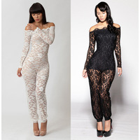 Fashion sexy fashion jumpsuit sexy lace for cl ubsuit hot-selling