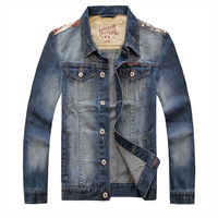 Free shipping 2014 men's clothing men's jean jacket men denim jackets for men large size oversize:S M L XL XXL XXXL 4XL 5XL6893