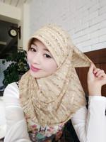 2014 Free Shipping Muslim fashion pullover muslim bandanas hijab simple