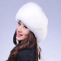 2014 genuine fox fur hat  female winter female fox fur fur winter hat princess hat factory direct wholesale ear free shipping