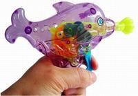 Dolphin bubble gun toy dolphin bubble gun flash no battery bubble liquid toy