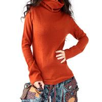 2014 autumn and winter gilr cashmere sweater slim sweater basic shirt akkadian heap turtleneck long-sleeve sweater  pullovers