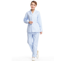 Doctor Clothing Nurse Clothing White Coat ICU Winter Blue Work Wear Free Shipping M-428