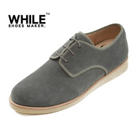 While spring and autumn chamois low casual shoes fashion trend of the genuine leather male shoes