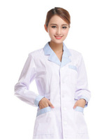 New Medical Work Wear Nurse Clothing White Lab Coat Beauty Shop Clothes Free Shipping M-427