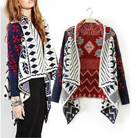 Free shipping 2014 new retro loose cardigan sweater coat