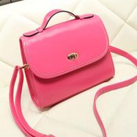2014 candy color messenger bag small handbag cross-body bag