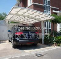 Aluminum alloy pc polycarbonate panels membrane structure sedan car shed