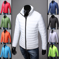 2014 Men cotton-padded jacket slim stand collar winter short design male wadded jacket outerwear Youth brand coat