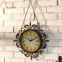 For dec  orated home cutout iron wall clock home wall clock decoration wall clock