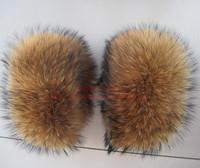 Raccoon fur wool oversleeps cuff fox fur cuff fur sleeves wool sleeves i circle wool wrist support boot covers