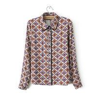 Free shipping 2014 new women loose chiffon long-sleeved shirt dress shirt bottoming