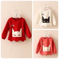 Male female child print thickening sweatshirt 2014 autumn child clothing baby children's