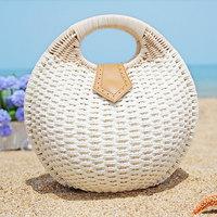 2014 women's handbags straw bag shell small handbag quality lovely beach bag for travel tote shopping bags