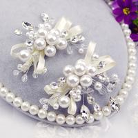 Handmade Bride pearl bride beaded hair accessory wedding marriage accessories