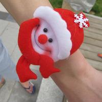 Christmas decoration small gift bag christmas decoration pat circle christmas hand ring christmas child supplies toy