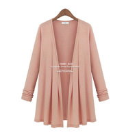 Fashion plus size clothing lady elastic modal comfortable loose shirt autumn lady outwear coat 653