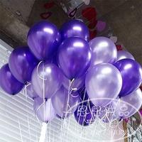 90pcs/lot 12 inch Thickening purple circle pearl balloon circle balloon