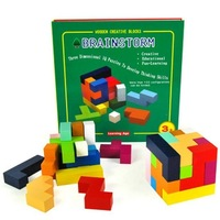 Learningage for brain storm 3d IQ puzzle wood assembly toys to develope thinking skills early learning toys free shipping new