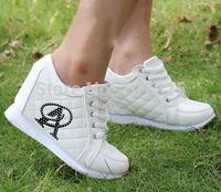 Free Shipping Hidden Wedge Heels Fashion Casual Women's Elevator Shoes Sneakers Sports Shoes For Women