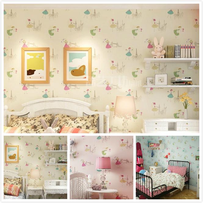 Online kopen wholesale meisje behang uit china meisje behang groothandel - Schattige meisje slaapkamer ...