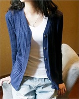 2014 autumn outerwear women's elegant brief V-neck sweater female knitted cardigan thin sweater