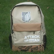 shingeki no kyojin Attack on Titan Giant school bag allen backpack backpack(China (Mainland))