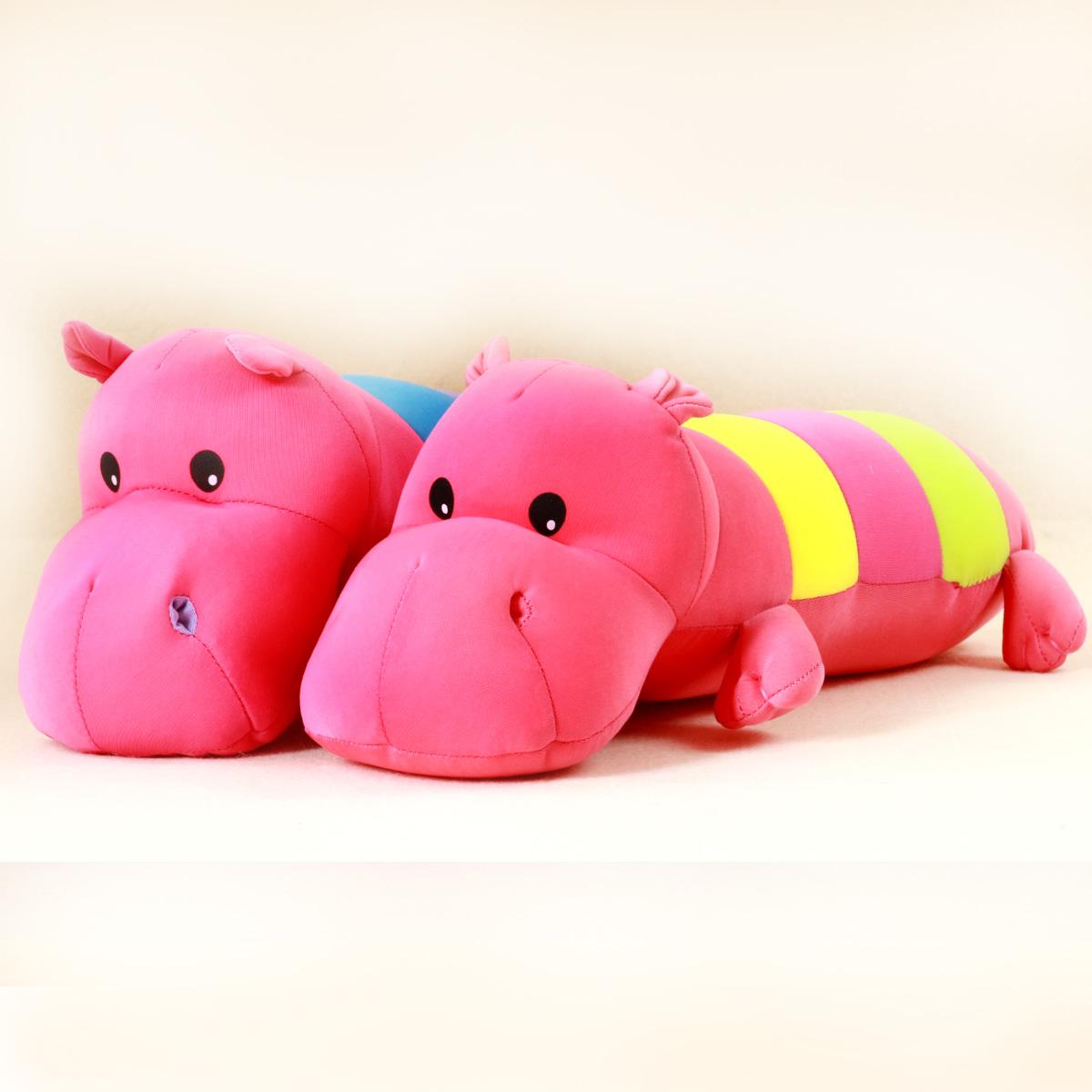 Hippopotami leugth elastic fabric foam pillow puppet dolls Lay hippo worm smooth elastic fabric/foam stuffed/nano particles(China (Mainland))