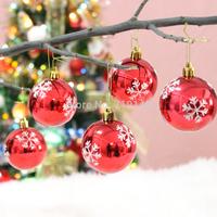 6cm 4colors available 30pcs Christmas ball christmas tree bundle decoration christmas tree hanging drop drawing ball