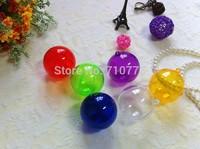 6cm of the transparent plastic ball hollow display decoration plastic ball diy wedding christmas tree hanging drop