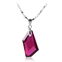 Wishing stone crystal necklace crystal pendant 925 pure silver necklace fashion decoration