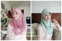 2014 Free Shipping-Muslim fashion pullover muslim bandanas hijab simple bronzier