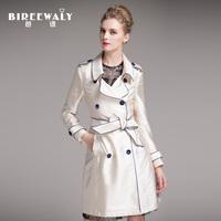 2014 autumn women's medium-long women's trench outerwear spring and autumn