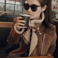 2014 plus size wadded jacket medium-long deerskin fleece berber fleece cotton-padded jacket female thickening slim outerwear