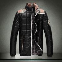 2014 new men's fashion big yards down jacket coat cotton jacket Free shipping M-5XL
