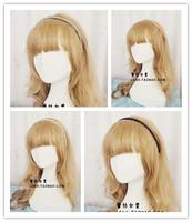 Fashion Korea White Black Gray Khaki pearl brief beaded hairband elastic hair bands hair accessories for women accessories