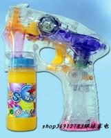 Music 4 lamp flash fully-automatic transparent bubble gun super bubble belt music flash