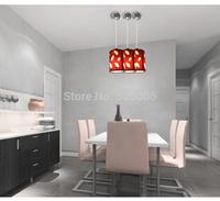 Single 3 head black red cloth pendant lamps led 3W 5W bulbs dining room lighting bedroom lights E27 base de hole free shipping