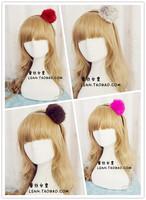 Korea Fashion 4Color Lovely rabbit bunny ears fur ball elastic hair bands hair accessories for women hairband hair accessory