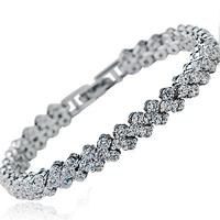 Crystal bracelet full zircon quality fashion jewelry classic accessories