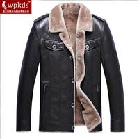 Statehood men's luxury clothing fur one piece men's leather jacket leather clothing leather outerwear