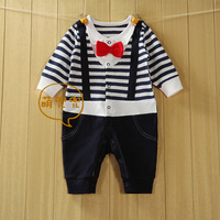 Baby Boy Kid Carters Casual Romper Gentleman Pants long sleeve climb clothes Sets 0-24M