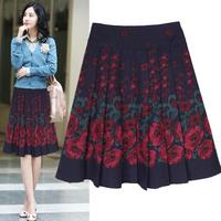2015 new autumn and winter female British retro plaid wool skirts in a skirt dancing skirt long skirt