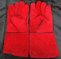 Cowhide welding gloves safety gloves long welding gloves welders gloves thickening welding gloves