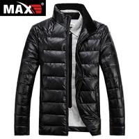 2014 winter new large size men's thick down jacket collar male Korean version of the Slim -season men's short coat